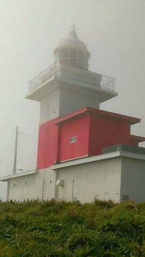 japan hokkaido ochiishi lighthouse mist