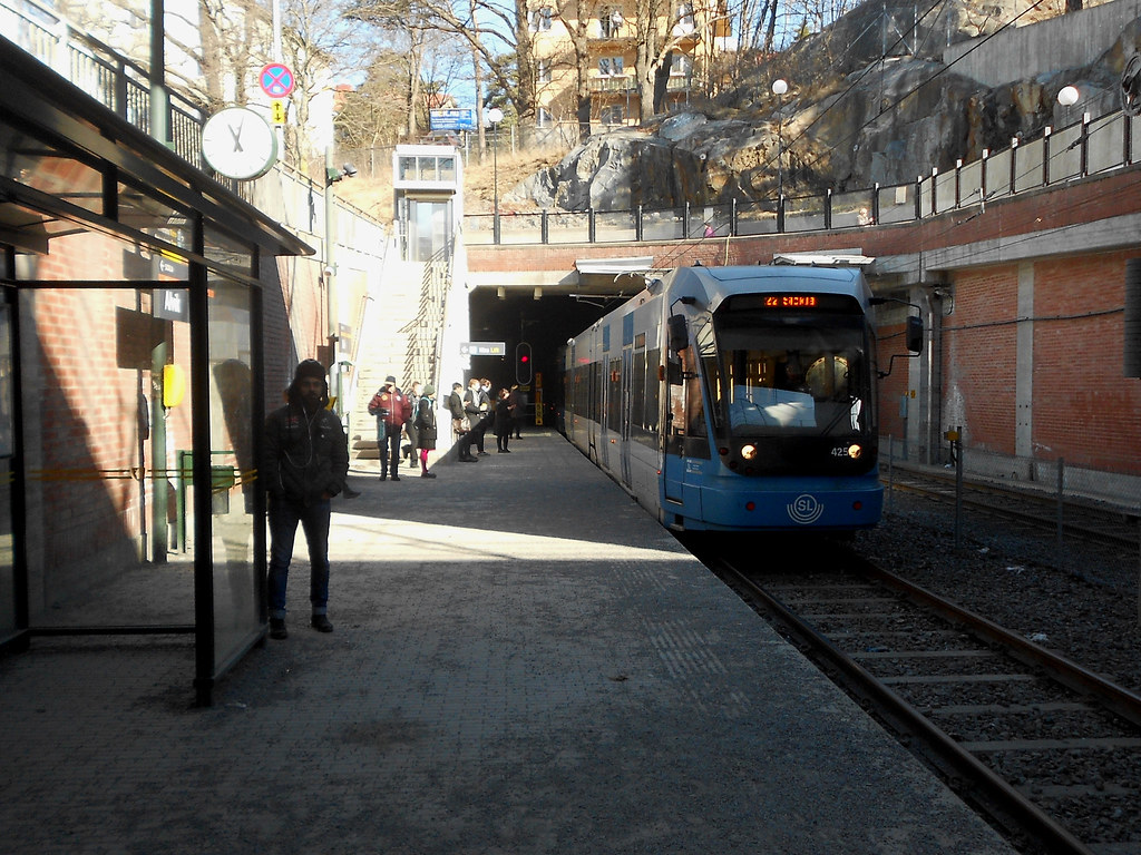 "Станция ""Alvik"". Туннель Tranebergstunneln."
