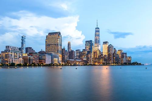newyorksunset nycsunset nyc newyork sunset nycskyline oneworldtradecenter newyorkcitysunset