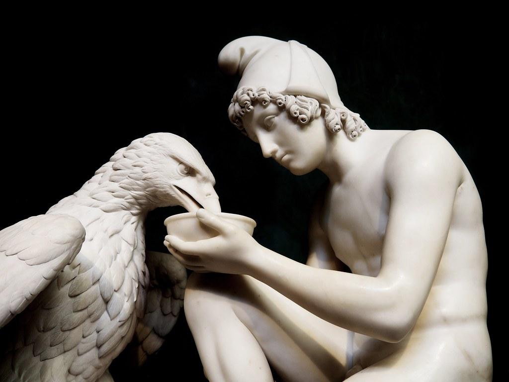 Ganymede and the Eagle of Jupiter by Bertel Thorvaldsen
