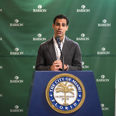MIAMI MAYOR SUAREZ ANNOUNCES COLLABORATION WITH BABSON COLLEGE