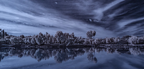 infrared infraredphotography convertedinfraredcamera clouds water lindolake nature surreal trees composition reflections ir lakeside