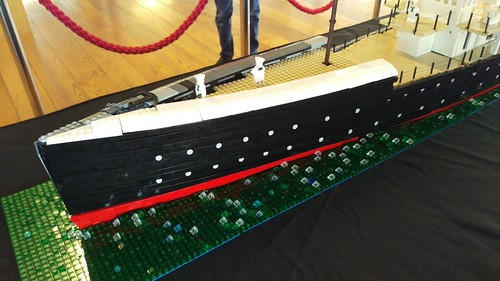 RMS Leinster - bow, original livery | by LostCarPark