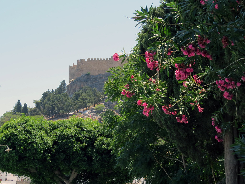 Вид на крепость Линдоса