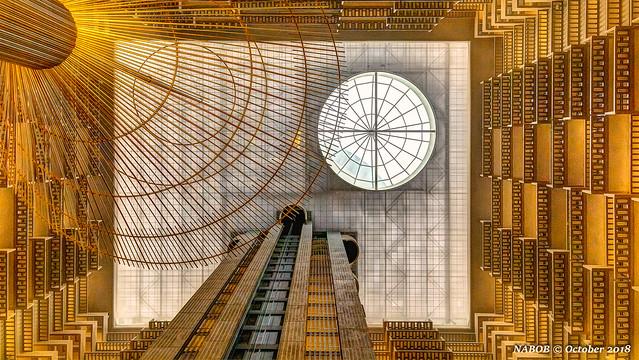 Atlanta, GA: Hyatt Regency elevator bank and skylight (Open House Atlanta)