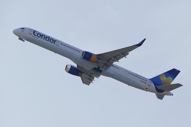 Boeing B757 300 Condor D-ABOI take off LPA Las Palmas Gran Canaria 2018