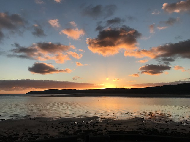 Sunrise over Red Wharf Bay, Anglesey.