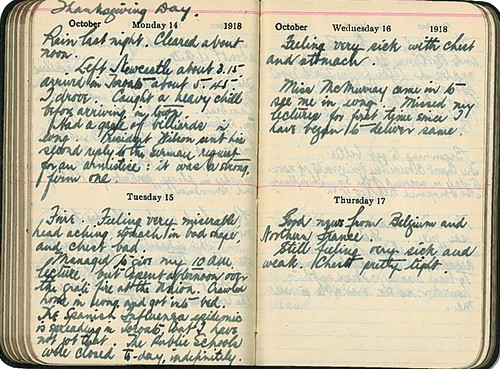 Diary entries of Edward G.R. Ardagh, October 14-17, 1918