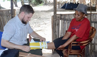 Head Warden treated by Colin with American marine medical kit | by teresehart