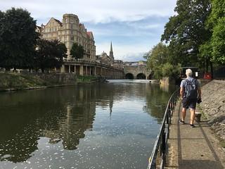 Walking towards Pulteney Bridge