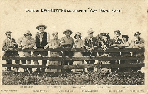 The cast of D.W. Griffith's film Way Down East (1920)