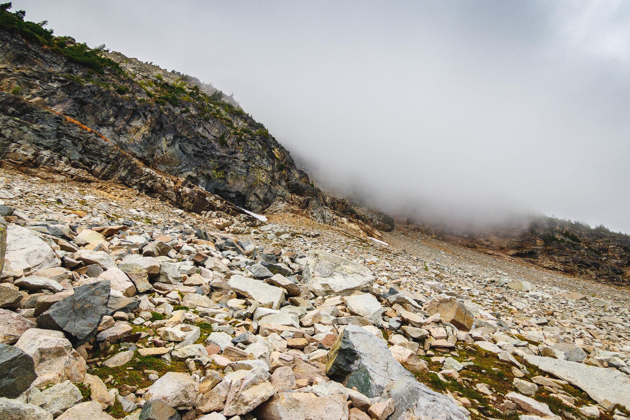 Corteo Peak east basin