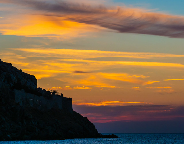 Sunset Clouds (Myrina Town - Limnos - Greece) (Olympus OM-D EM1-II & M.Zuiko 40-150mm f2.8 Telephoto Zoom) (1 of 1)
