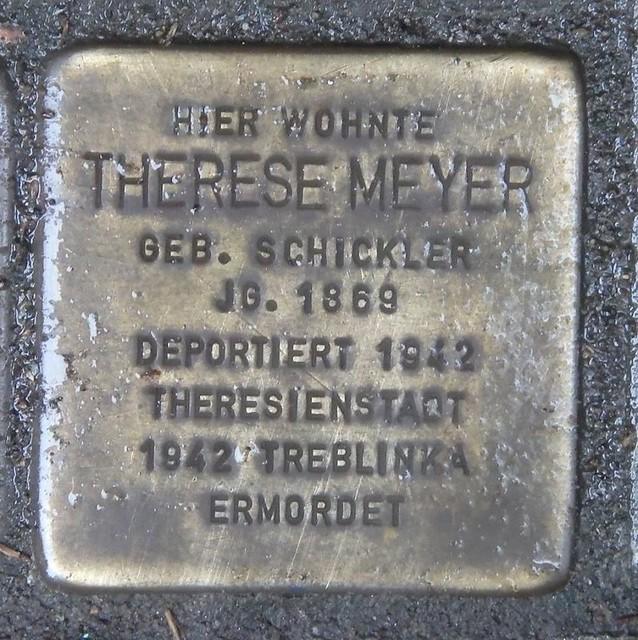 THERESE MEYER (GEBORENE SCHICKLER) * 1869 Schlüterstraße 79 (Eimsbüttel, Rotherbaum)