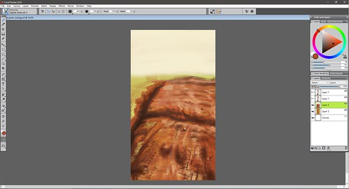 background Sayu Corel Painter VII