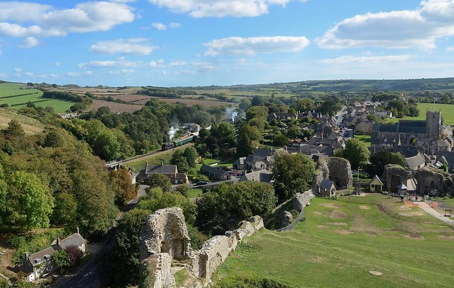 The view from Corfe Castle 1