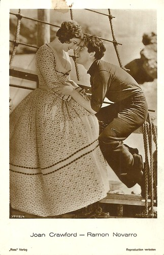 Ramon Novarro and Joan Crawford in Across to Singapore (1928)