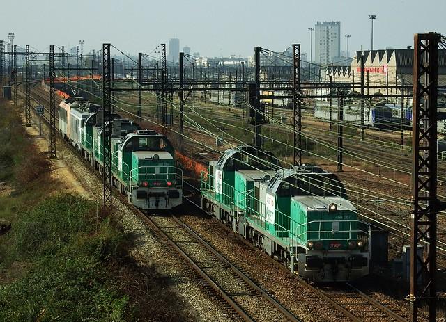 BB-60087 + BB-60008 Gare de triage de St Pierre des Corps (37 Indre et Loire) 20-10-18a