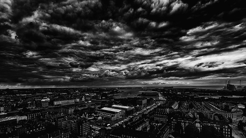 clouds copenhaguen copenhague sly blackandwhite