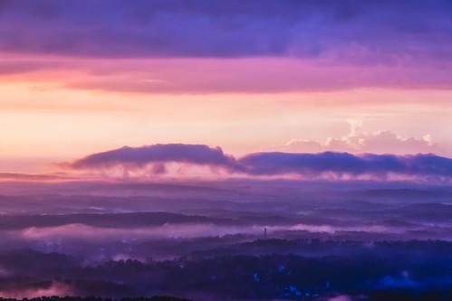atlanta morning sky sunrise stonemountain clouds