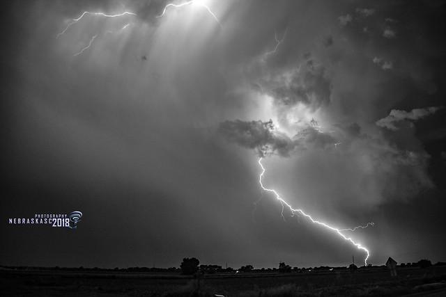 060918 -  Epic Nebraska Lightning! (B&W)