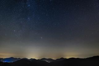 Sternenhimmel über dem Pfälzer Wald