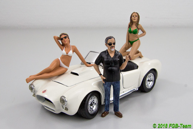 Shelby Cobra mit American Diorama Figuren