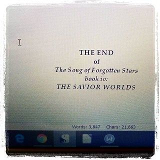 THE DRAFT IS DONE!!! #amwriting #writersofinstagram #sciencefiction #spaceopera #forgottenstars #ahhh #huzzah #woot | by Jaquandor