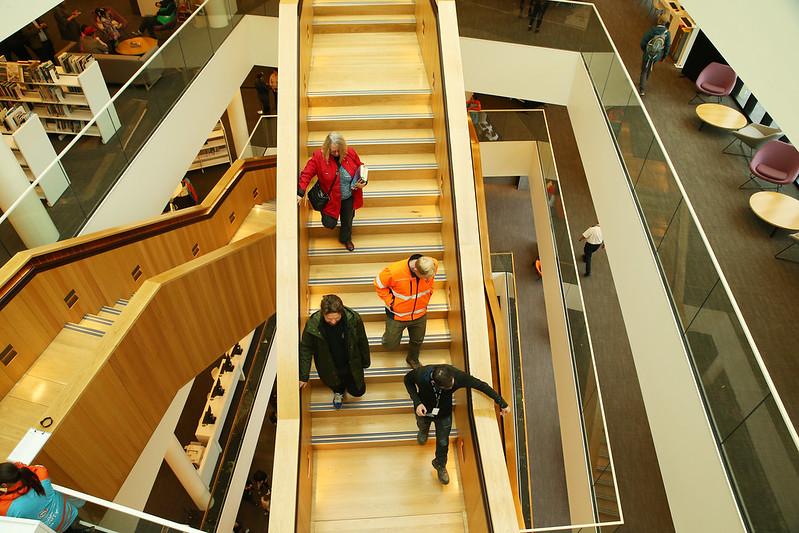 Atrium stairway