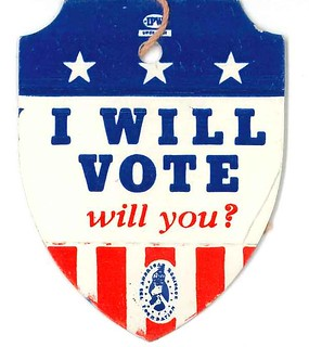 Voting badge, circa 1960s | by Seattle Municipal Archives