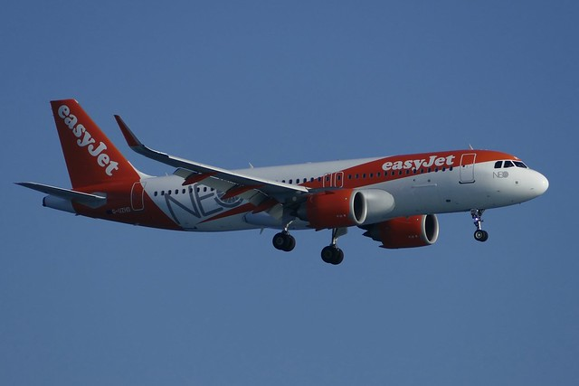 Airbus A320neo easyJet G-UZHD NCE Nice Airport France 2018