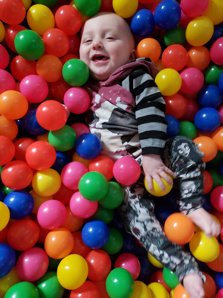 Baby in a ball pit | Quinn Dombrowski | Flickr