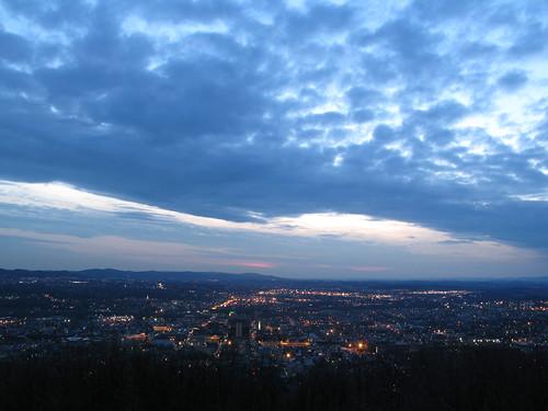 county sunset night canon reading lights pennsylvania pa berks skylinedrive g7 riverratt3