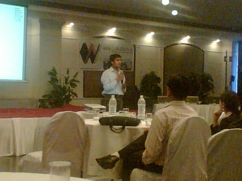 Ravish presenting on Community websites
