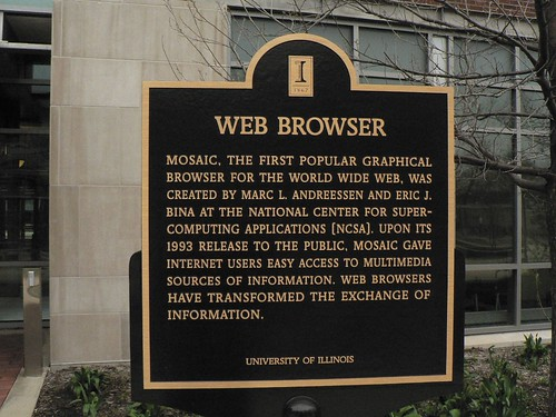 NCSA Plaque Commemorates the Web Browser | by Marc_Smith