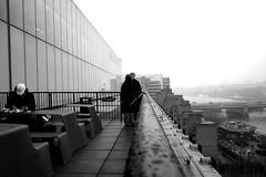 Tate Modern terrace bw