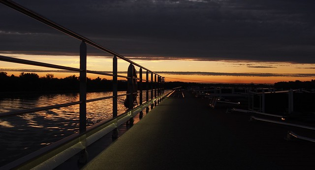 Evening on the river Rhein