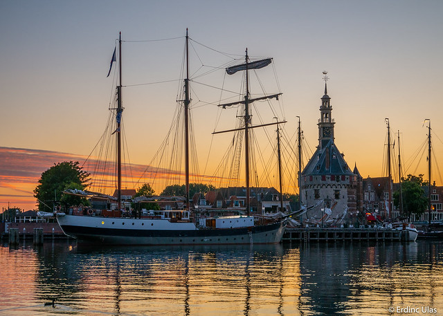 Sailship in the harbour of Hoorn