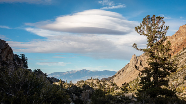 Lenticular Cloud over Bishop Creek Canyon