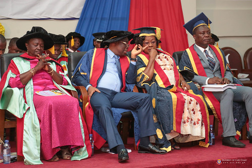 From left to right: Prof. Naana Jane Opoku Agyemang (Former Vice-Chancellor of the University of Cape Coast and Immediate Past Minister of Education of the Republic of Ghana), Prof. Joseph Ghartey Ampiah (Vice-Chancellor, University of Cape Coast), Mrs. Nancy O. C. Thompson (Chairman, University of Cape Coast Governing Council) and Prof. George K. T. Oduro (Pro-Vice-Chancellor, University of Cape Coast) at the Congregation.