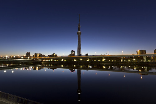 tokyoskytree skytree bluehour nopeople reflection morning longexposure superwideangle counteragent theskytreemirrorbycounteragent asakusa tokyo japan beforesunrise dlsr raw canon60d monstermunch
