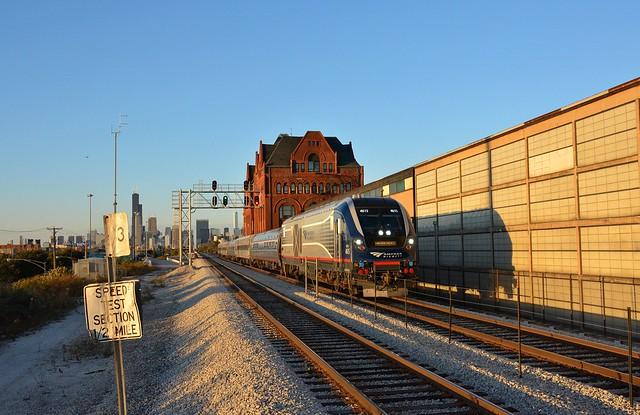 Amtrak on Rock