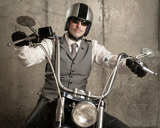 All gussied up for the Distinguished Gentleman's Ride
