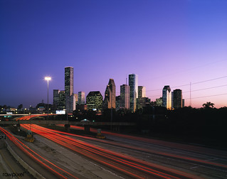 Houston, Texas skyline. Original image from Carol M. Highsmith's America, Library of Congress collection. Digitally enhanced by rawpixel.