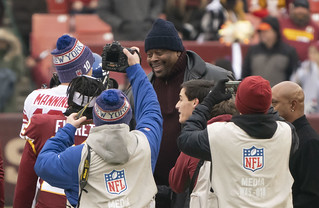 Eli Manning, Patrick Ewing | by Keith Allison