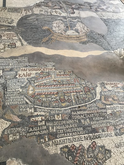 The Madaba Mosaic Map, the Saint George's Church & Mosaic Map, Central Jordan.