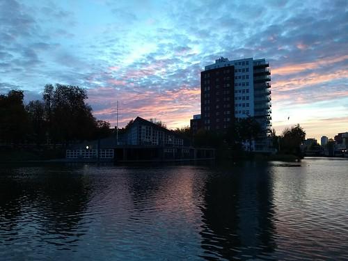 2018 oktober october autumn herfst sjaak kempe motorola moto g5 plus nederland netherlands niederlande groningen stad zuiderhaven ochtendgloren ochtend sunrise early morning sochtends vroeg province
