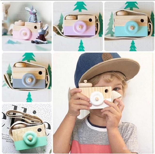 Cute wood camera gift - Free shipping