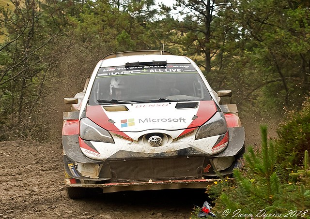 Jari-Matti Latvala, Toyota Gazoo Racing. Pre Wales Rally GB 2018 test.