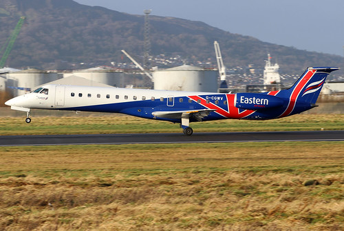 gcgwv embraer erj145mp erj145 erj t3 eze easternairways bhd egac belfastcityairport regionaljet airliner aviation aircraft